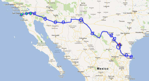 MexicanAmerican War Wikipedia The USMexican War Resources Primary - Map of us mexico border