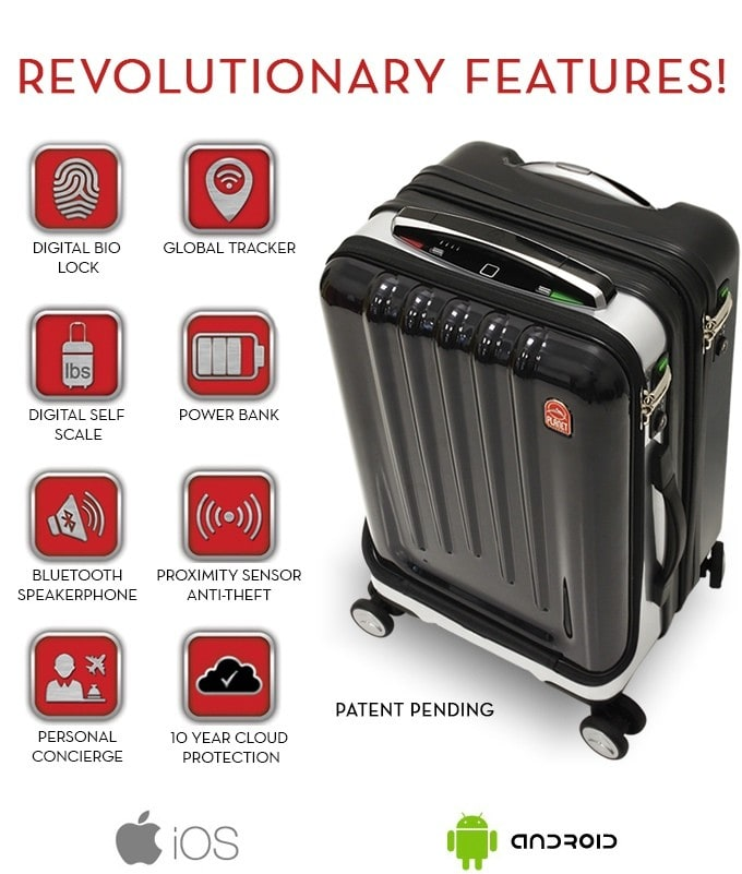 space case 1 worlds most advanced smart suitcase indiegogo