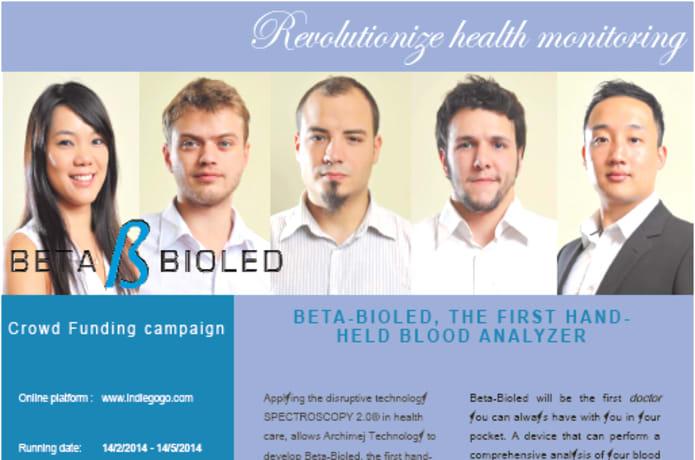 Beta-Bioled, the first hand-held blood analyzer | Indiegogo