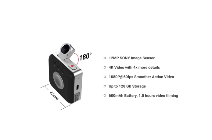 Snap: The Smallest & Affordable 4K Action Camera | Indiegogo