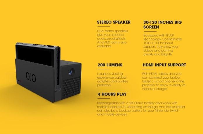 OJO - World's First Nintendo Switch Projector | Indiegogo
