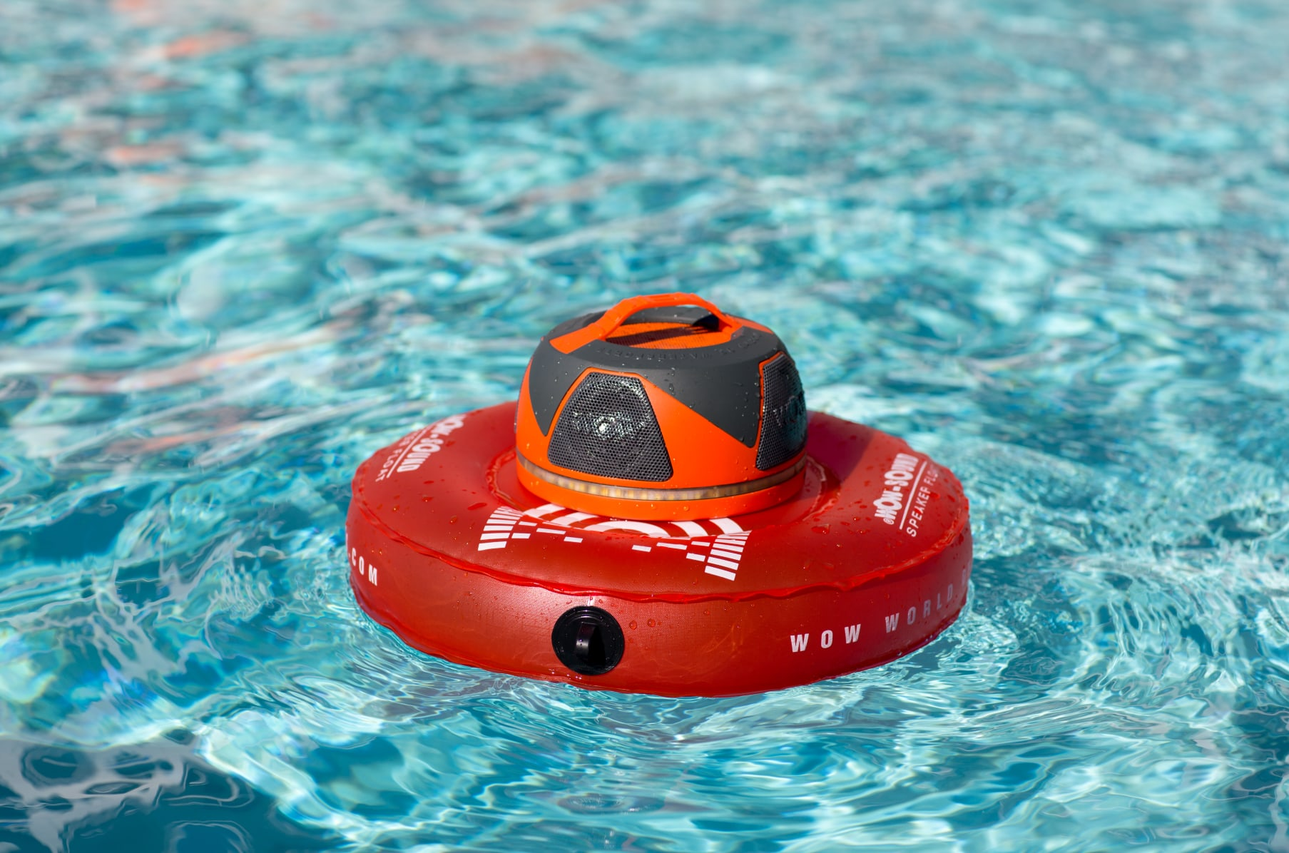 LED Lights Wow World of Watersports Wow-Sound Speaker Waterproof and Cup Holder with Long Battery Life Floating Speaker Bluetooth Shockproof