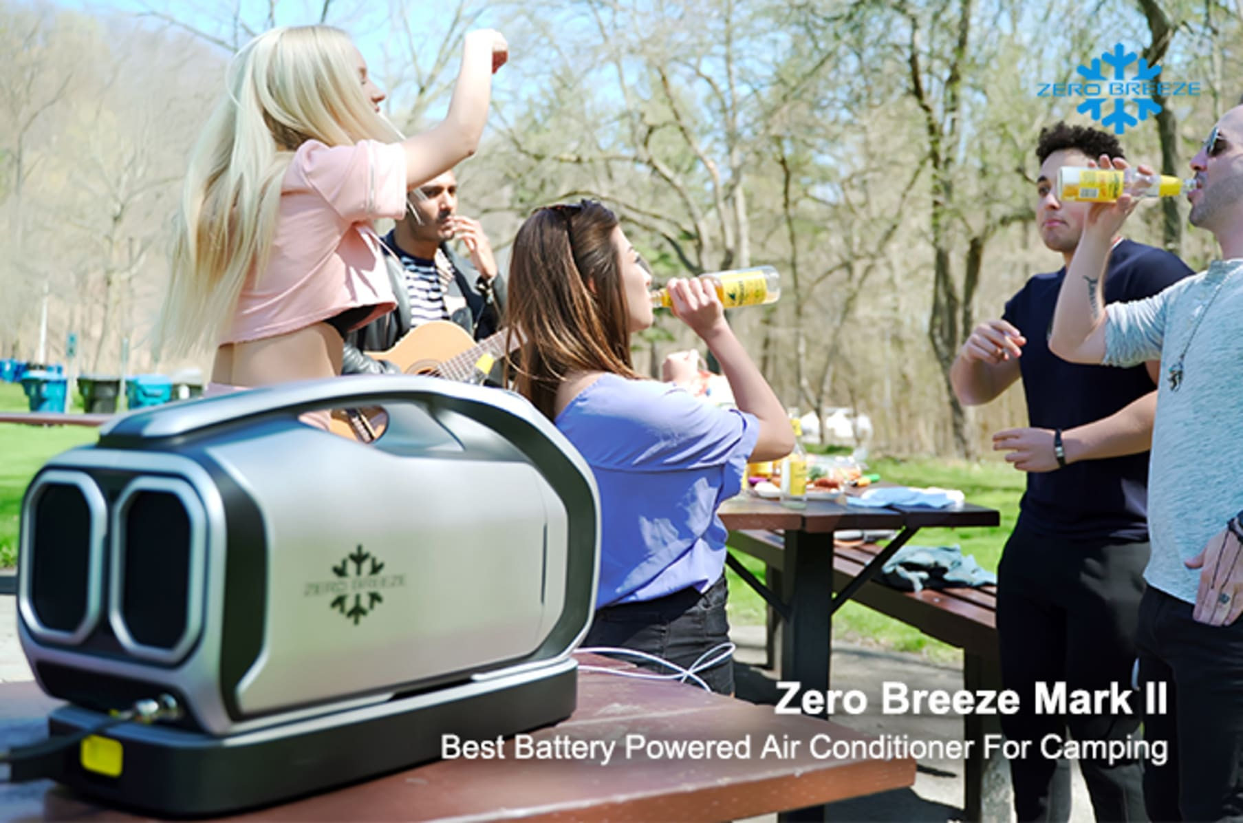 Zero Breeze Mark Ⅱ battery power portable AC | Indiegogo