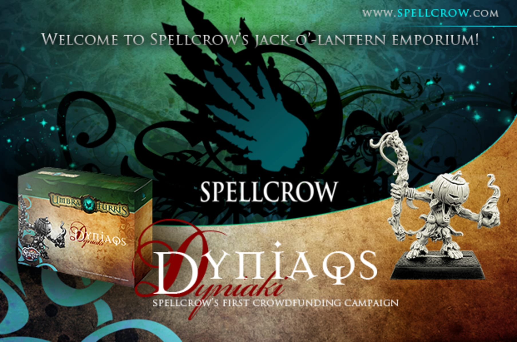 Pumpkinhead Mage Spellcrow SPCH1709 Dyniaq with Dagger Umbra Turris Resin