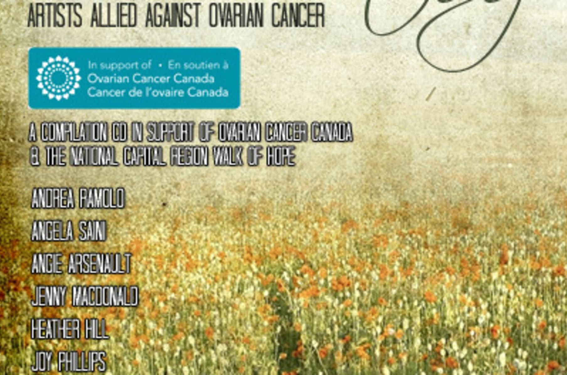 She S Listening Compilation Cd For Ovarian Cancer Canada Indiegogo