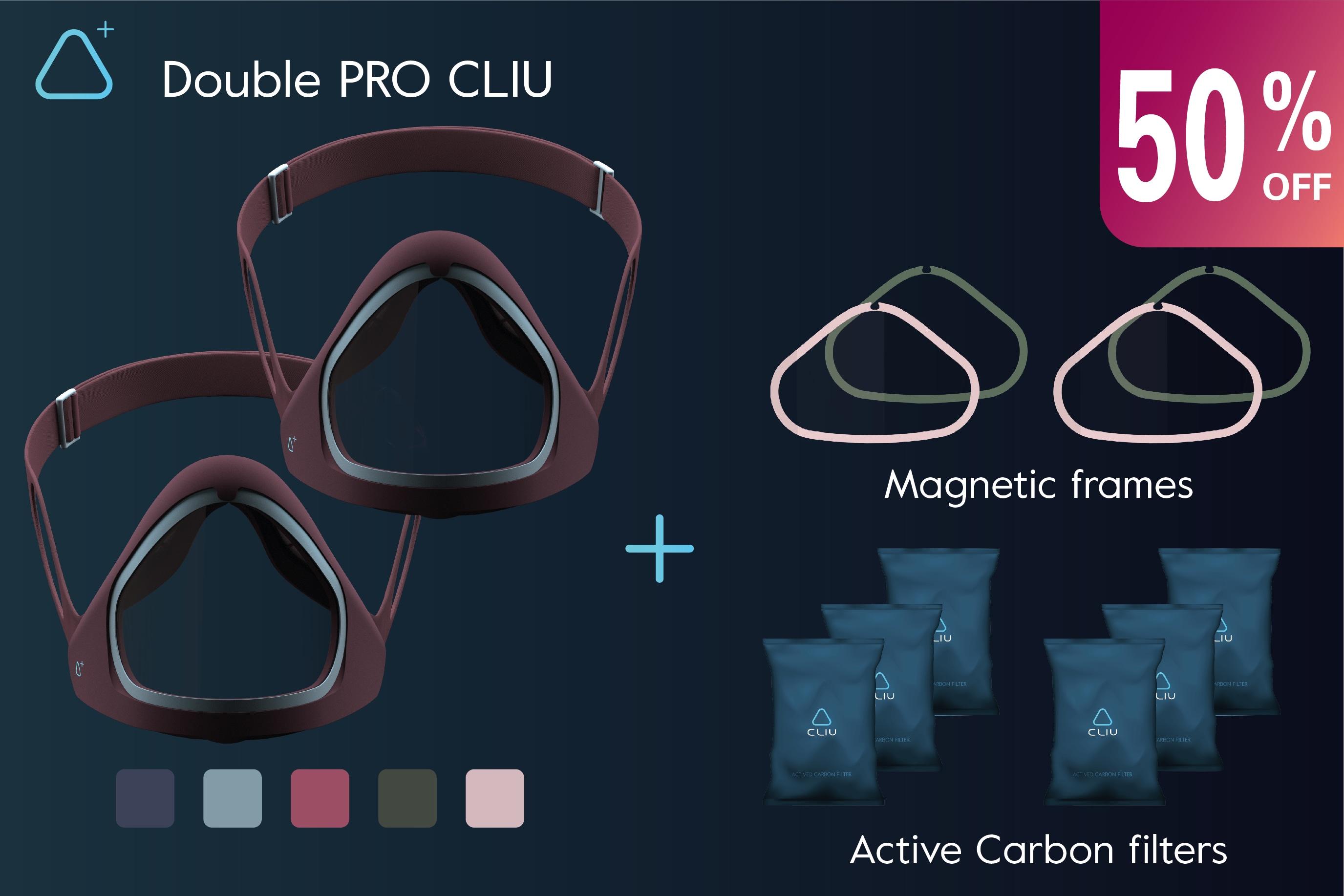 CLIU Mask - N99, BIO, Antimicrobial & A.C. Filters | Indiegogo