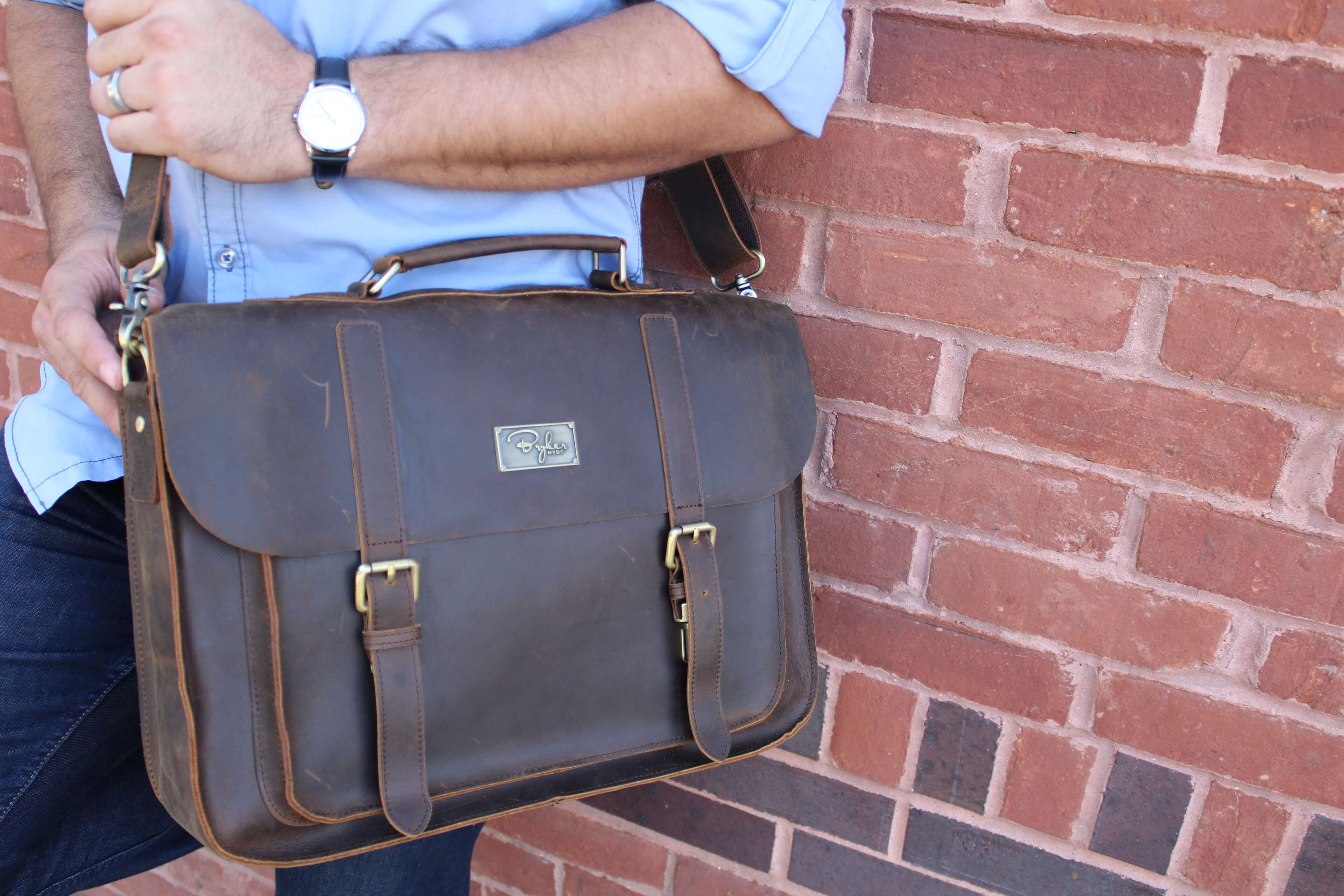 b707820552e2 Bryker Hyde - Leather Messenger Bags | Indiegogo